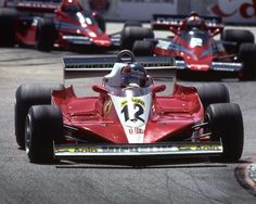 Gilles leading his first grand Prix, Long Beach 1978