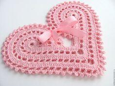 Купить Подставки под чашки - арт. Два сердца - бледно-розовый, сердце в подарок