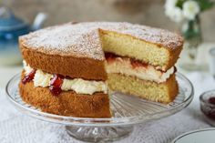 Classic Victoria Sandwich by Odlums Odlums Recipes, Bbc Good Food Recipes, Irish Recipes, Sandwich Recipes, Baking Recipes, English Recipes, Classic Victoria Sandwich, Victoria Sandwich Cake, Yellow Sponge Cake Recipe