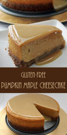 Gluten-Free Pumpkin Maple Cheesecake: With a buttery pecan oat crust and sweet maple glaze, this warm pumpkin infused cheesecake is the perfect addition to any menu.