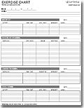 Exercise Charts and Logs: Free printable fitness charts and logs and templates for Microsoft® Excel®