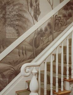 Wallpaper and murals on pinterest murals chinoiserie - Grisaille wallpaper ...