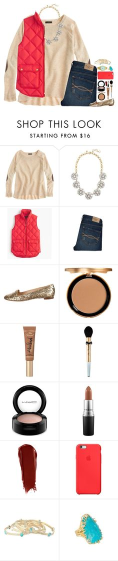 """""""Happy Valentine's Day Everybody """" by lmr14 ❤ liked on Polyvore featuring J.Crew, Abercrombie & Fitch, Kate Spade, Too Faced Cosmetics, MAC Cosmetics, NARS Cosmetics, Apple, Kendra Scott, women's clothing and women"""