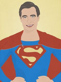 Fred Rogers as Superman | Bill Nye, LeVar Burton, And Other Childhood Favorites As Superheroes