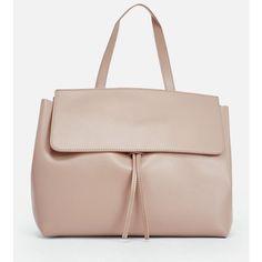 Justfab Shoulder Carp ($40) ❤ liked on Polyvore featuring bags, handbags, shoulder bags, pink, drawstring handbags, fold over purse, justfab, pink purse and pocket purse