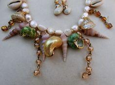 collane con conchiglie   Victorian Cameo®: Mermaid necklace.....collana di perle naturali e ...