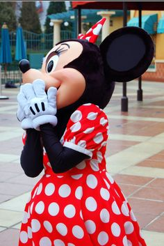 Minnie is up for a big surprise from Mickey Disney Now, Disney Dream, Disney Parks, Walt Disney, Minnie Mouse Costume, Mickey Minnie Mouse, Prince Photography, Minnie Mouse Pictures, Disney Fun Facts