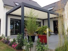 Note height of vergola - possible to have higher than house gutter?