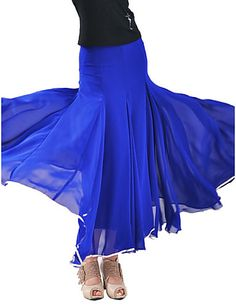 Dancewear Chiffon With Satin Modern Dance Skirt