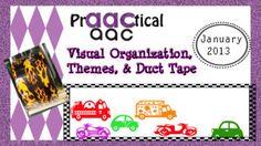 Visual Organization, Themes, & Duct Tape.
