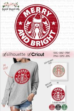 Circuit Projects Discover Merry and Bright SVG Starbucks Logo SVG Starbuck Christmas Iron-on Christmas Starbucks Ring Merry and Bright DIY Shirt Christmas svg Starbucks Logo, Starbucks Funny, Starbucks Tumbler, Cricut Christmas Ideas, Christmas Svg, Christmas Shirts, Christmas Time, Circuit Projects, Vinyl Projects