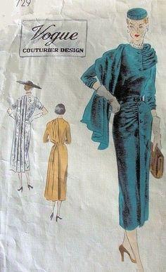 ideas clothes illustration pattern print ads for 2019 Vintage Dress Patterns, Clothing Patterns, Vintage Dresses, Vintage Outfits, Retro Fashion, Vintage Fashion, Vintage Vogue, Trendy Fashion, Patron Vintage