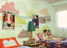 The Sweetest Dreams The idea of sharing a bedroom with a younger sibling might not be so appealing for some kiddos. Create a whimsical space (with your children's input) that incorporates all of their favorite things.Source: Danielle Thompson