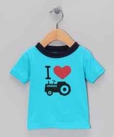 Take a look at this Aqua Tractor Tee - Infant & Toddler by Deezo on #zulily today!