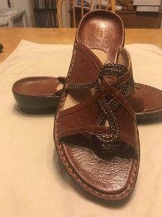 e5d42838c606 NEW Clarks Artesian Collection 10 M Rich Rust Leather Sandals With Coper  Braids