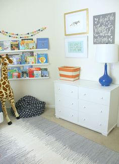 Modern Shared Boys Room Reading Nook