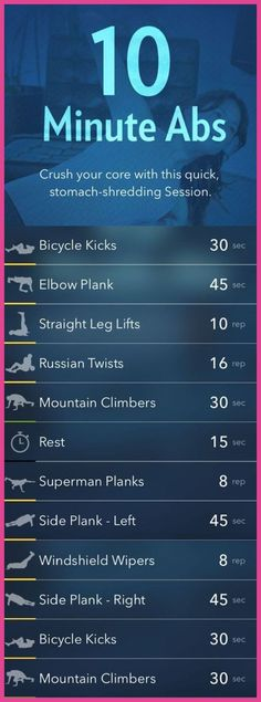 10 Minute Abs Workout. Crush your core with this quick stomach-shredding session!