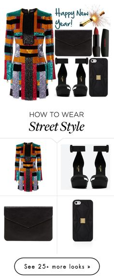 """""""street style"""" by sisaez on Polyvore featuring Balmain, Yves Saint Laurent and Hervé Léger"""