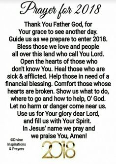 A Prayer for the New Year#2018#happy New Year