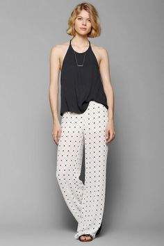 Sparkle & Fade Checkered Wide-Leg Pant - Urban Outfitters