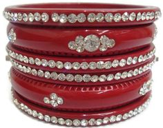 A personal favourite from my Etsy shop https://www.etsy.com/in-en/listing/213855414/deep-red-handmade-bangles-set