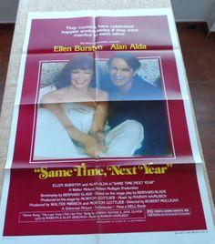 Same Time Next Year Movie Poster Style B Folded 1978 Ellen Burstyn Alan Alda   eBay