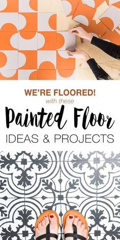 Trying to figure out an inexpensive way to redo your worn out floors? You can create your own painted floors! Try these great DIY ideas and projects! #paintedfloor #paintedfloors #paintedfloorideas #paintedfloorprojects #diypaintedfloors #diypaintedfloorideas #diypaintedfloorprojects #TBD #diyhomedecor #homedecorideas #diy