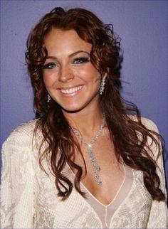 Lindsay Lohan Hairstyle - Beautiful Lindsay Lohan hairstyle