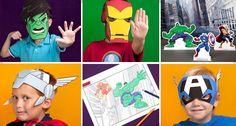 Free Superhero Avengers Masks Printables
