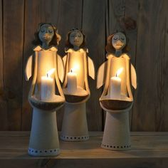 Angel candle holders.