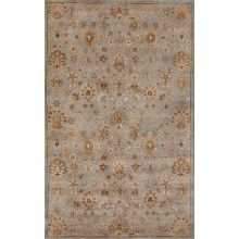 Rugsville  Retro Floral 12002 Light Blue Dark Blue - $226.80