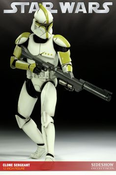 Figura Star Wars. Sargento Clone Trooper Phase 1, 30cm. Sideshow Collectibles