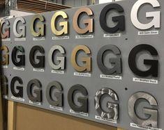 Gemini letter signs Signage Board, Retail Signage, Outdoor Signage, Wayfinding Signage, Signage Design, Lettering Design, Logo Publicidad, Backlit Signs, Led Logo