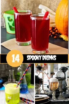 Fuzzy Pumpkins, Eyeball Punch, and more! These spooky Halloween Drinks for Kids are perfect for Halloween Parties or a fun Halloween themed dinner at home. (Non-Alcoholic Halloween Drinks)