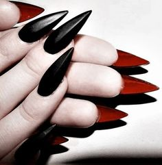 These stiletto claw nails are on Would you rock these? @rebelcircus…