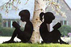 Garden shadow stakes