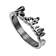 Hand Writing Bible Verse, Be Still Psalm 46:10 Ring, Stainless Steel