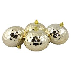 Found it at AllModern - Shatterproof Hammered Disco Ball Christmas Ornament