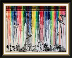 Disney ships crayon art - by Leah Bubeck. This is pretty cool Disney Diy, Disney Crafts, Disney Love, Disney Magic, Disney Couples, Pixar, Disney Artwork, Disney Drawings, Disney Paintings