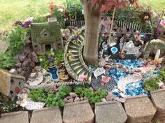Best Diy Miniature Fairy Garden Ideas , As you're probably producing your fairy garden for your children anyway, go right ahead and make one in lieu of a sandbox. Your fairy garden is likely. Large Fairy Garden, Fairy Garden Houses, Gnome Garden, Fairies Garden, Big Garden, Fairy Village, Woodland Fairy, Love Fairy, Fairy Doors