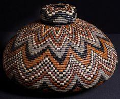 Vintage Zulu Beer Basket  Ukhamba