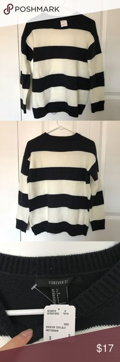 Striped Knit Sweater Striped knit sweater from Forever 21. Brand new with tags on. Forever 21 Sweaters