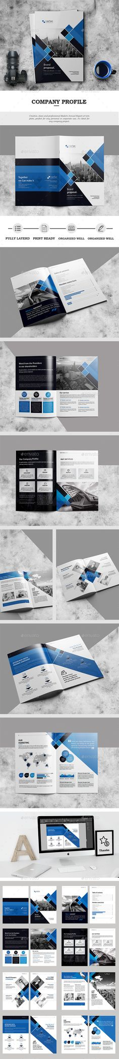 The Company Profile — InDesign Template #elegant #design • Download ➝ https://graphicriver.net/item/the-company-profile/18525750?ref=pxcr