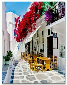 Mykonos is a stunning & colorful travel destination and inspired our Mykonos print.