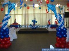 Boys christening bonbonniere nautic theme macarons for Anchor balloon decoration