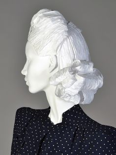 1940s paper wig | More wigs in the link as well as a process of making them