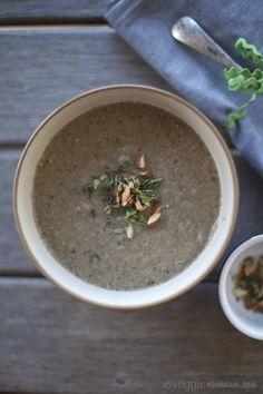 mushroom soup #vegan #vegetarian #food #recipe #soup