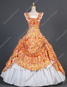 Victorian Southern Belle Formal Period Dress Ball Gown Reenactment Clothing Stage Wear