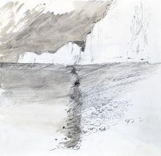 Birling Gap Sketchbook Graphite on paper Drawing | Stephen Robson - Graphite on paper