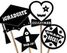 Graduation photo booth prop / Printable photobooth prop by 12punt3